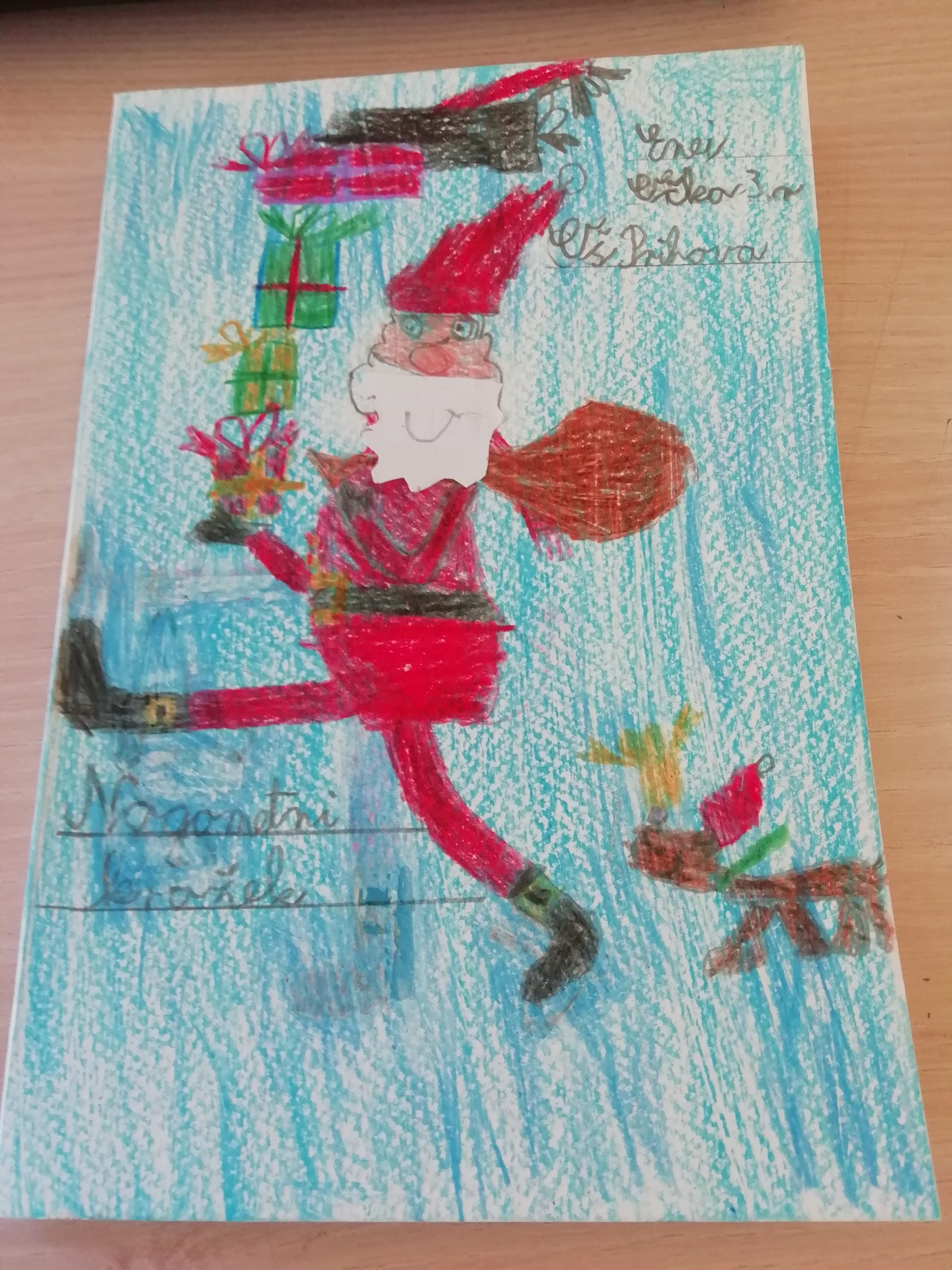 Božično novoletna voščilnica